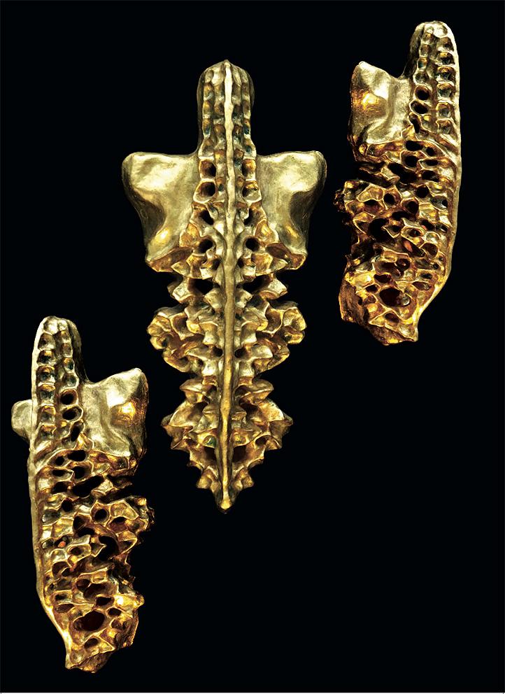Gold Sculptures 9